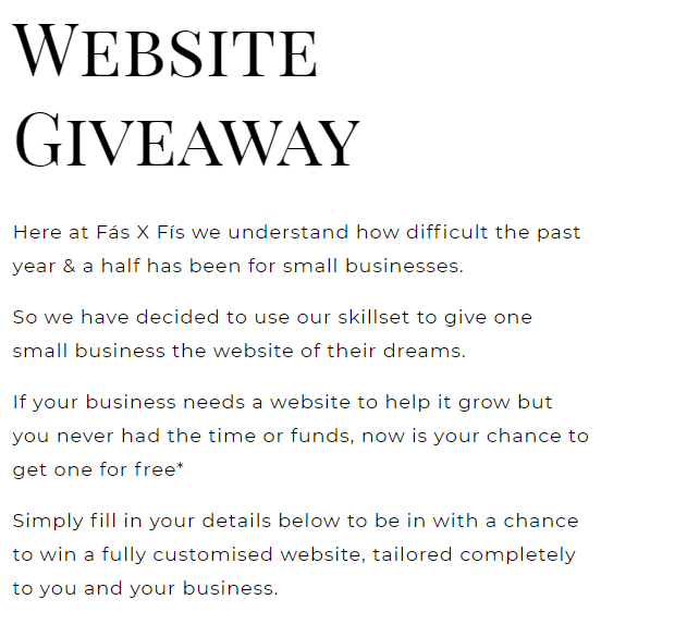 Fas X Fis Website Giveaway 2021-08-29