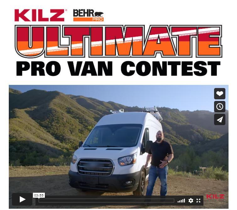 Kilz Behr Pro Ultimate Van Contest 2021