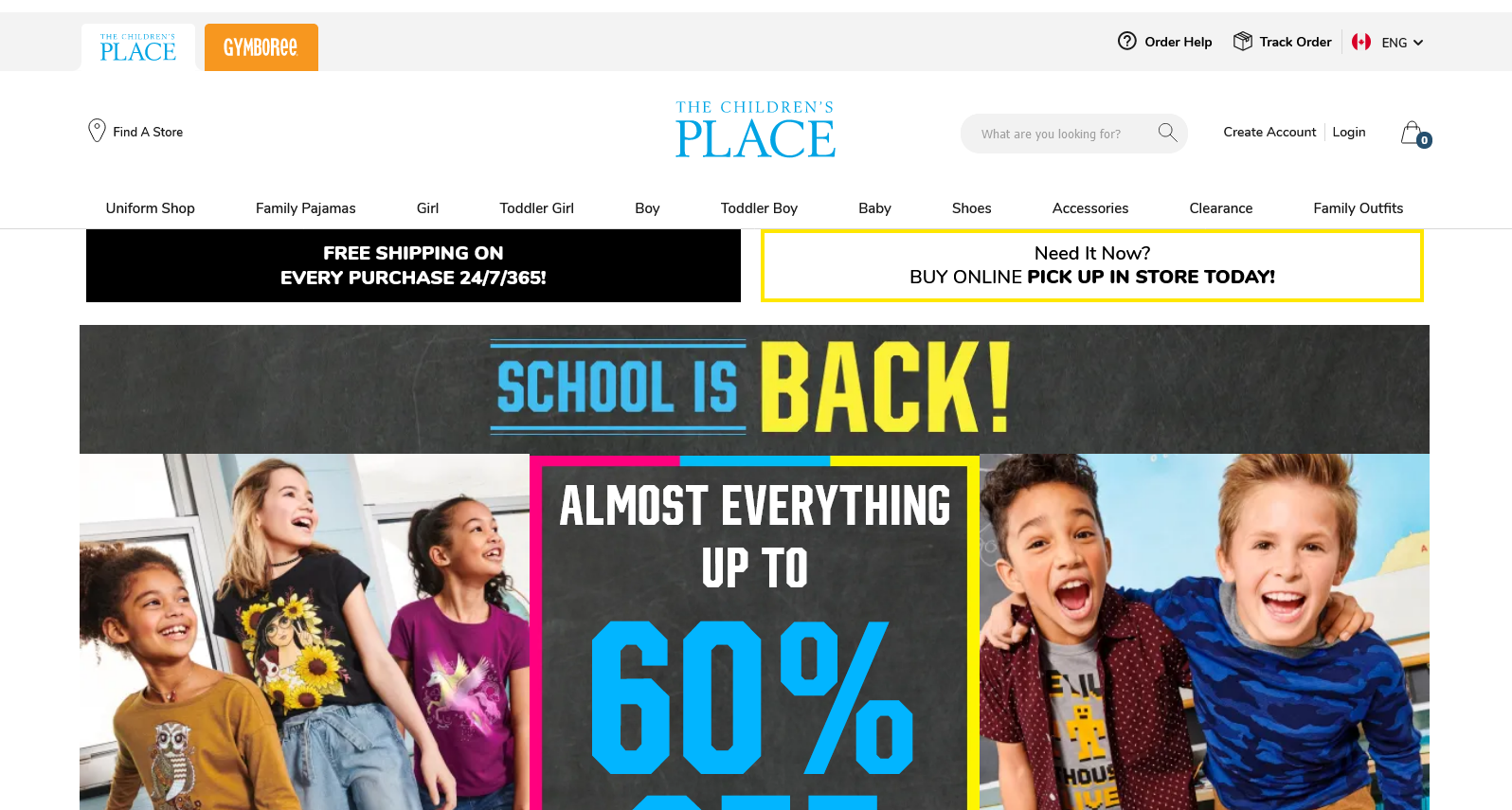 Children's Place School is Back Sweepstakes 2021-09-07