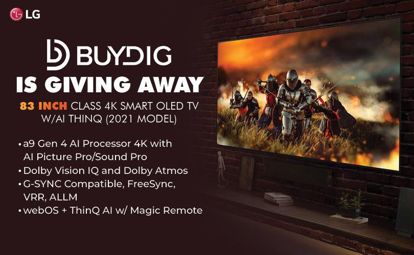 Buydig LG 83 inch smart OLED tv 2021-09-30